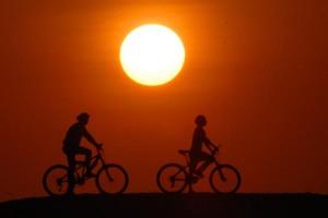 Adoro a bicicleta, agora sabem porquê. É como desejo isto para todo mundo, desculpem se insisto em ciclovias, bicicletários e festival da bicicleta Nova em Rodas.