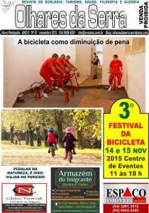 NOVEMBRO: 14 e 15 Festival das Bicicletas - Seguros Chico Novak, Imóveis Espaço e Armazém do Imigrante...