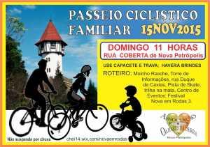 Cartaz para o passeio ciclístico B RBG peq