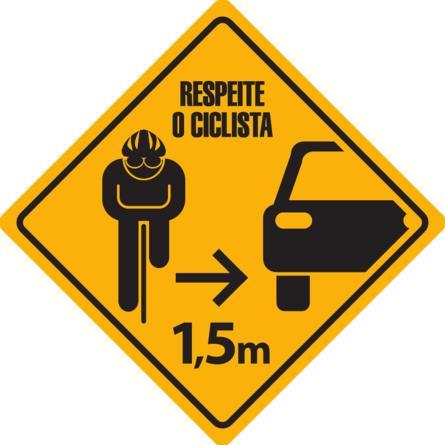 sinalização bicicletas