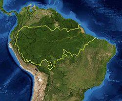 Amazonia em mapa