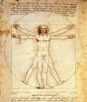 S11 ARQUIVO 26/02/2013 CADERNO2 DOIS / O Homem Vitruviano, de Leonardo Da Vinci (Crédito: Divulgação)